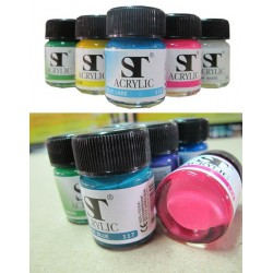 สีอะคริลิค ST Acrylic colors 15 ml.