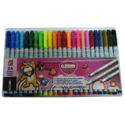 ชุด สีเมจิก / ปากกาสีน้ำ ตรา Master art Water Colour Pens 24 สี