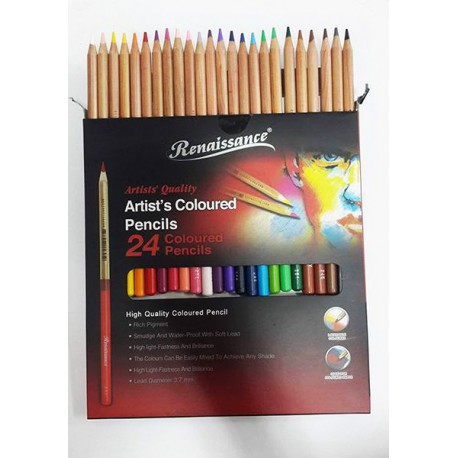 สีไม้ 12 สี ตรา Renaissance