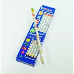 ดินสอไม้ HB ตรา ม้า (12ด้าม) ลายสูตรคูณ