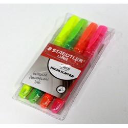 ชุด ปากกาเน้นข้อความ 4สี4ด้าม Luna 3681-S WP4