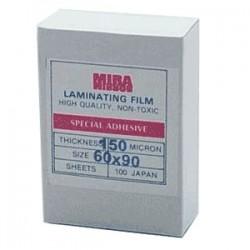 พลาสติกเคลือบบัตร   60x90 cm. หนา 150 Mc.