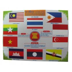 ชุดธงชาติสมาชิกอาเซียน 10 ประเทศ SCI0055