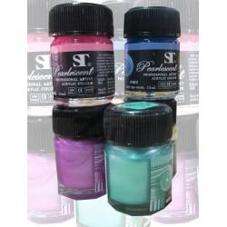 สีอะคริลิค ST สีมุก 15 ml. Acrylic Colour Pearlescent