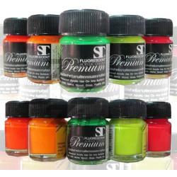 สีอะคริลิค ST สะท้อนแสง 15 ml. Fluorescent Acrylic Colour