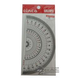 ไม้โปรแทรคเตอร์ ครึ่งวงกลม 15 cm. ตรา INCA semi circle protractor 960