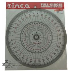 ไม้โปรแทรคเตอร์ วงกลม 15 cm. ตรา INCA full circle protractor 960