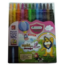 ชุด สีเทียน ตรา Master art Pencil Pastel 12 สี