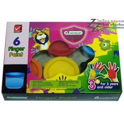 สีทามือ Master Art Finger Paint 6 สี