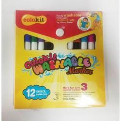 ปากกามาร์คเกอร์ ล้างได้ 12 สี Colokit SMW-CO1