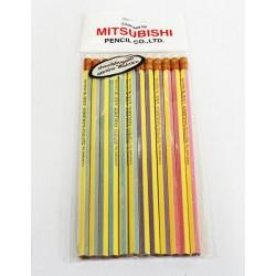 ดินสอไม้ HB ตรา Mitsubishi (12ด้าม)