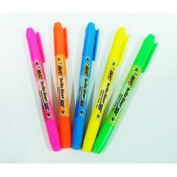 ปากกาเน้นข้อความ ตรา BIC 2หัว Brite Liner Twin