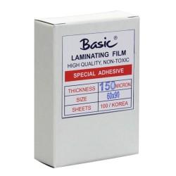 พลาสติกเคลือบบัตร Basic  60x90 cm. หนา 125 Mc.